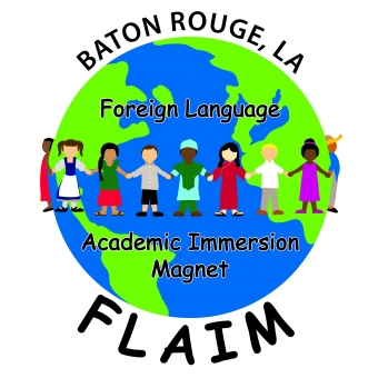 Baton Rouge Foreign Language Academic Immersion Magnet School (FLAIM) Logo