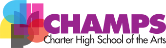 CHAMPS Charter High School of the Arts Logo