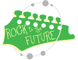 Rock to the Future Musicore After School Program Logo